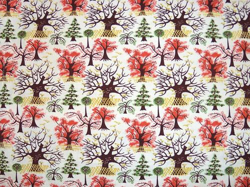 Vintage tree fabric