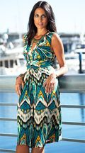 Papillon ikat dress