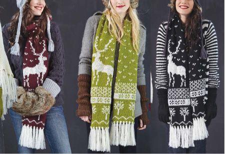 Wooden ships deer scarf a