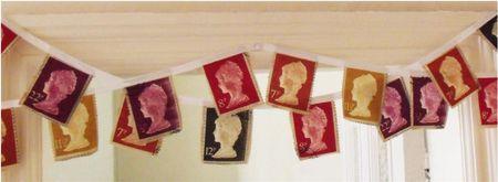 British stamp bunting