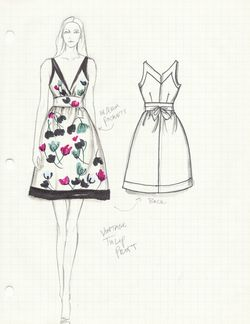 1c.Suzy Fairchild Illustration Bloomfield Dress