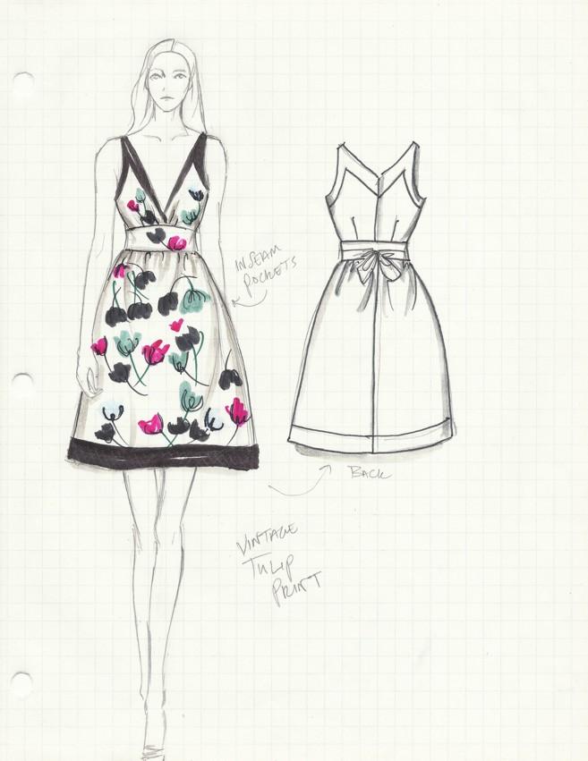 1c.Suzy Fairchild Illustration Bloomfield Dress