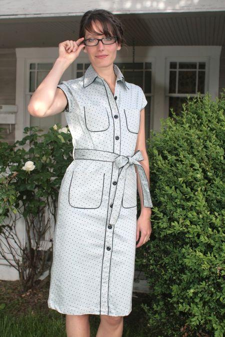 1r.Suzy Fairchild Shirtwaist Dot Dress