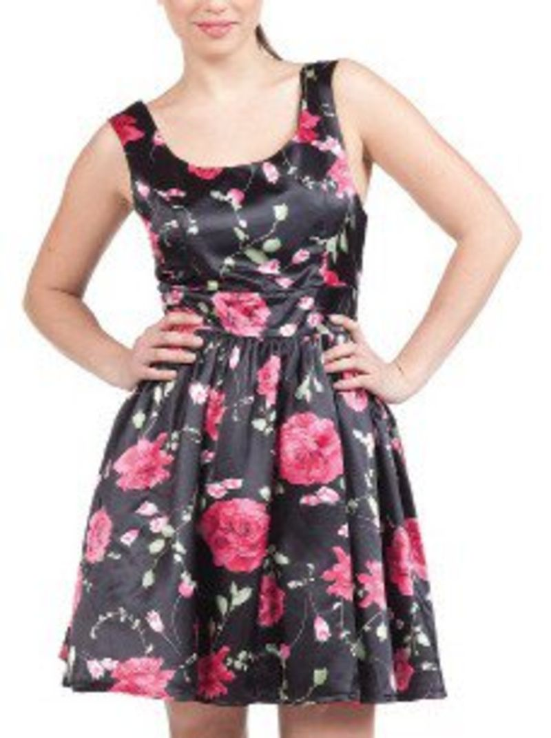 Papillon rose dress
