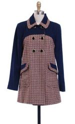 Hazel Tweed Check Coat
