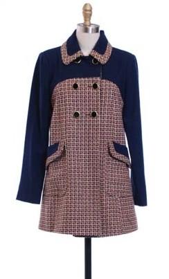 Hazel Tweed Check Coat