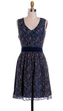 Hazel Midnight lace dress