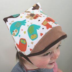 Hoot owl kitty hat