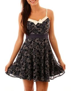 Navy flower dress - Copy