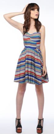 Jack stripe Bria dress