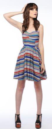 Jack stripe Bria dress