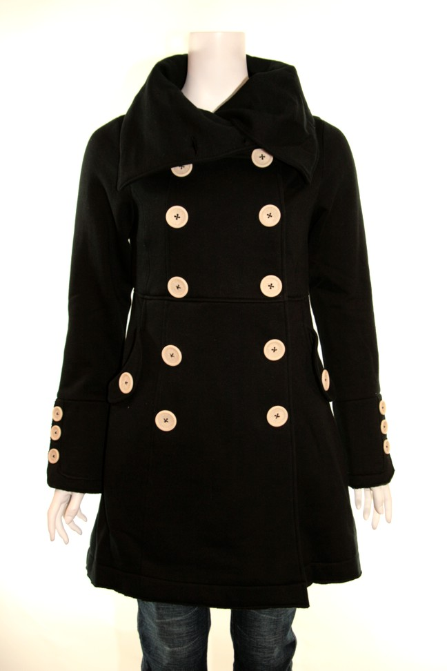 Knitted dove lost love coat blk