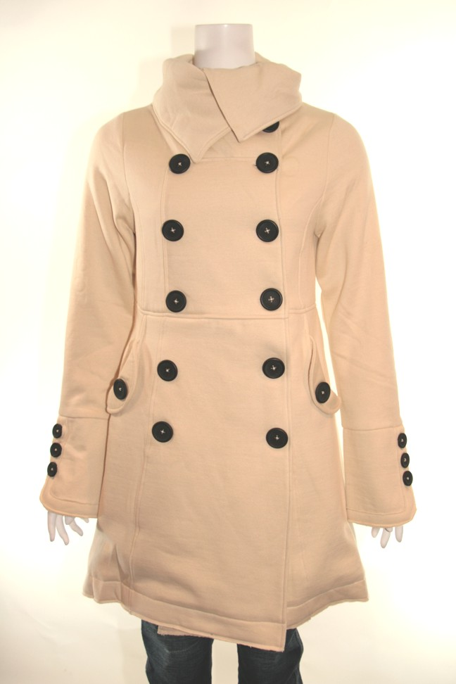 Knitted dove lost love coat ivory