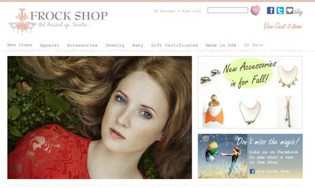 Frock shop homepage pic