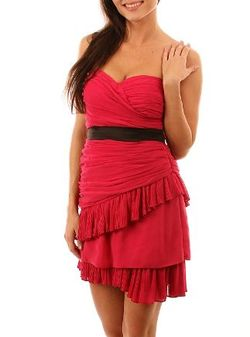 Magenta ruffle dress - Copy
