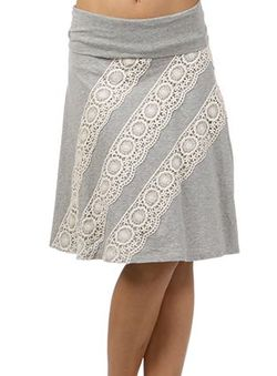 Mystree lace trim skirt 8828