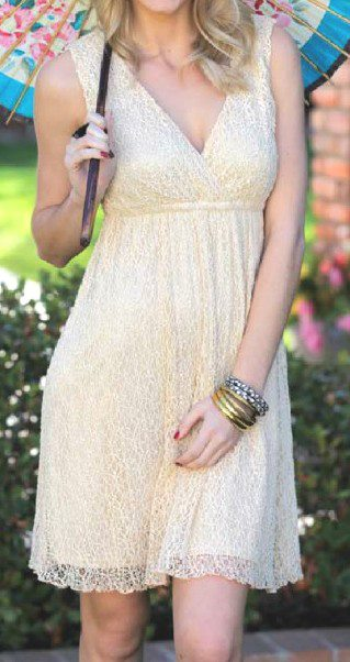 Angie cream lace dress