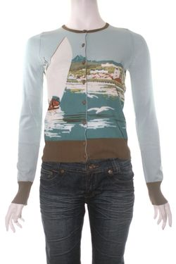 Knitted dove sail away cardi