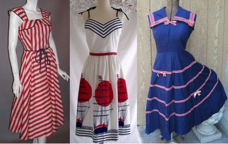 Vintage nautical dresses