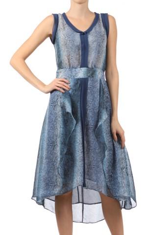Mystree blue ruffle dress 2