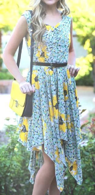 Angie hankerchief dress