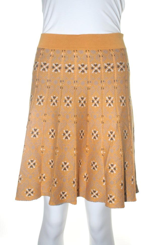 Nick & mo kaleidoscope knit skirt M