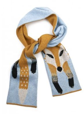 Yumi yellow fox scarf