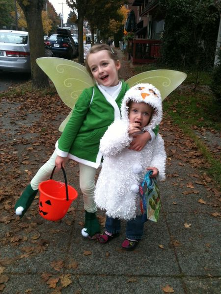 Tinkerbell and owl costume