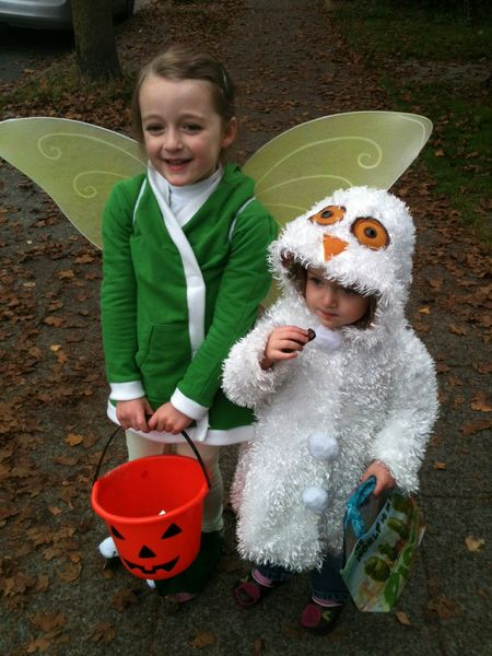 Tinkerbell and owl costume 2