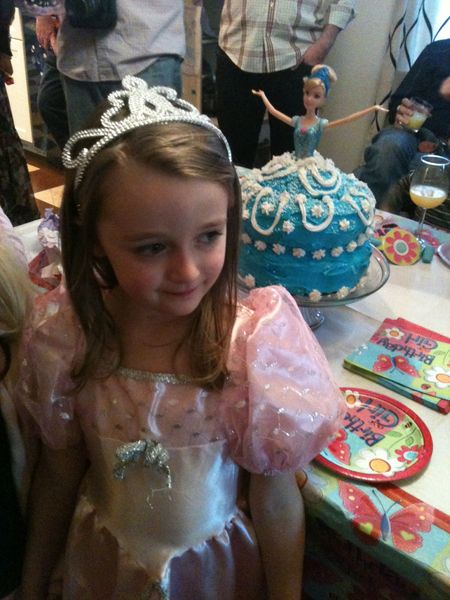 Birthday cinderella doll cake
