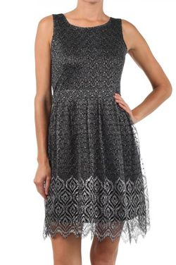Mystree silver lace dress