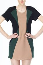 Kling beaty color block dress WI13-106-BLK 2 - Copy