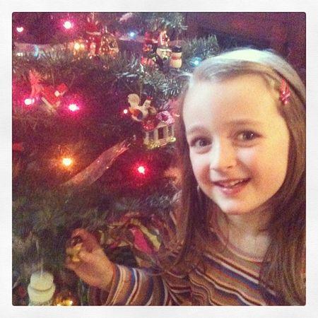 Sadie and tree