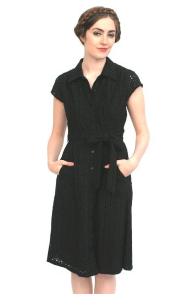 Fremont eyelet dress black frock shop
