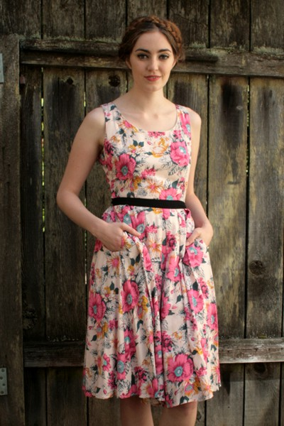 Garden bloom dress cream frock shop