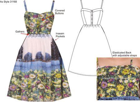 As style 31168 landscape print dress