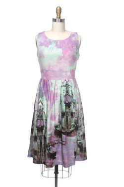 Venice canal print dress frock shop