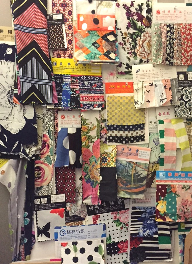 Frock shop spring 2016 fabric board