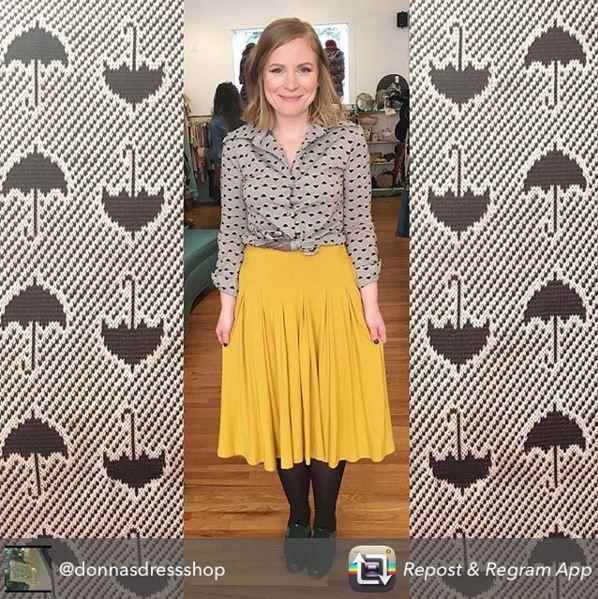 Frock shop donnas dress shop mustard skirt