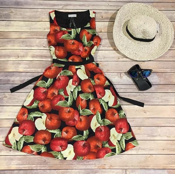 Frock shop apple dress summer