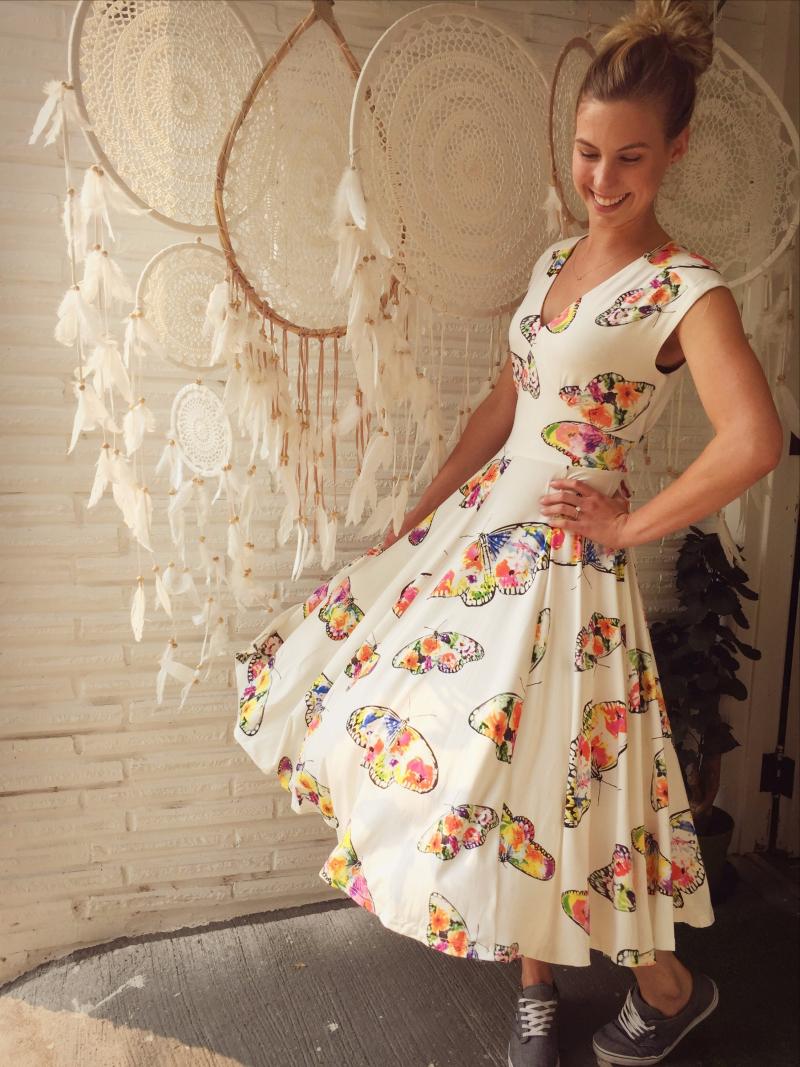Frock shop spring 2018 butterfly dress online