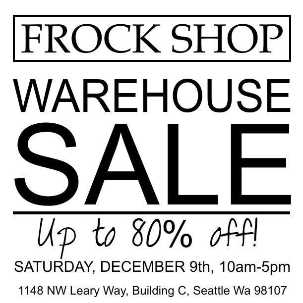 Frock shop warehouse sale