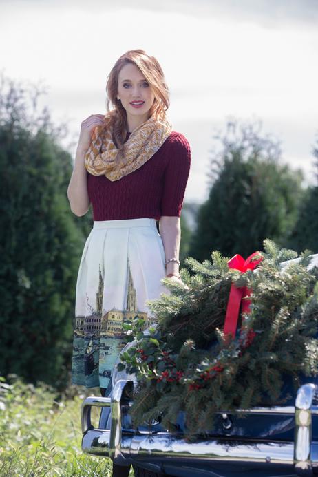 Frock shop frockshop modcloth scenic skirt