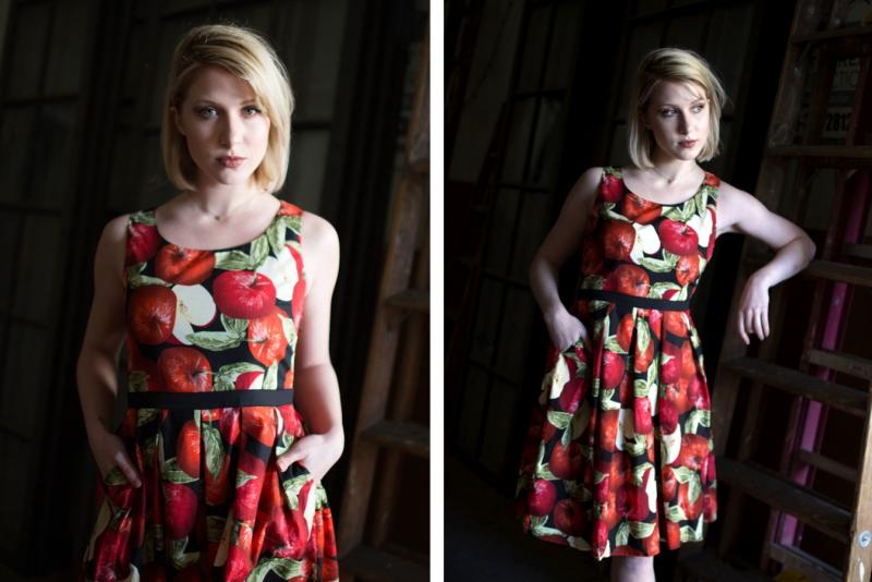 Frock shop spring apple dress summer printdress