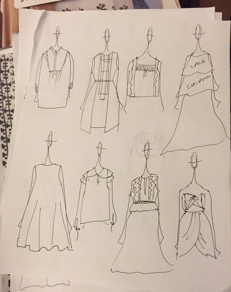 Frock shop spring 2016 sketches
