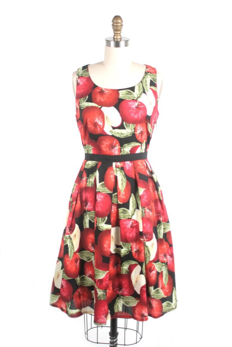 FS17192 apple dress black frock shop frockshop